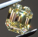 0.99ct Brownish Yellow VS2 Emerald Cut Diamond R8741