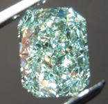1.52ct Green VS2 Radiant Cut Diamond R8745