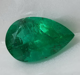 5.02ct Pear Mixed Cut Emerald R8748