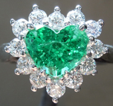 1.25ct Heart Shape Emerald Ring R8699