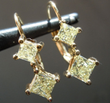 1.00ctw Y-Z VS Princess Cut Diamond Earrings R8753