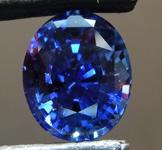 3.03ct Blue Oval Shape Sapphire R8758