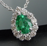 SOLD....0.76ct Pear Shape Emerald Necklace R8709