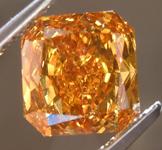 SOLD.....1.71ct Orange SI1 Radiant Cut Diamond R8193
