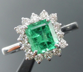 1.03ct Emerald Cut Emerald Ring R8708