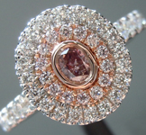 0.13ct Purple-Pink I1 Oval Shape Diamond Ring R8673