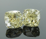 SOLD...2.01ctw Yellow VVS2 Cushion Cut Diamond Earrings R8790