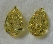 SOLD.....2.04ctw Yellow I1 Pear Shape Diamond Earrings R8795