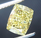 SOLD....1.71ct Yellow SI2 Cushion Cut Diamond R8803