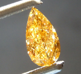 0.51ct Orange VS2 Pear Shape Diamond R8807
