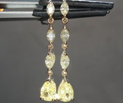 1.52ctw Yellow Diamond Dangle Earrings R8639