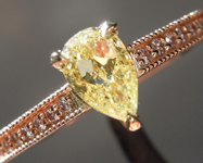0.56ct Yellow SI2 Pear Shape Diamond Ring R8641
