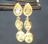 0.74ctw Yellow Diamond Earrings R8799