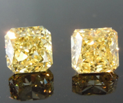1.10ct Yellow VVS2 Radiant Cut Diamond Earrings R8833