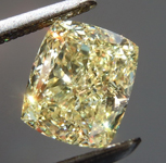 1.35ct Yellow VS1 Cushion Cut Diamond R8843