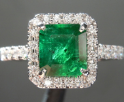 1.39ct Radiant Cut Emerald Ring R8706