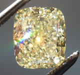 1.32ct Yellow VS2 Cushion Cut Diamond R8794