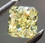 0.61ct Yellow VVS2 Radiant Cut Diamond R8836