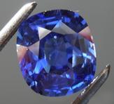 2.17ct Blue Cushion Cut Sapphire R8832