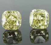 2.04ctw Yellow VS1 Cushion Cut Diamond Earrings R8893