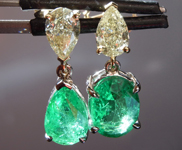 4.24ctw Emerald and Diamond Earrings R8857