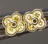 0.18ctw Yellow Diamond Earrings R8840