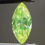 0.73ct Green SI1 Marquise Diamond R8917