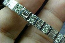 Bracelet- Baguette & Round Alternating Diamond Bracelet