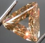 SOLD....1.62ct Brown Triangular Step Cut Diamond R8935