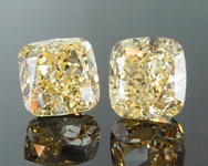 SOLD....2.06ct Yellow VS2 Cushion Cut Diamond Earrings R8944