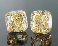 SOLD....2.06ct Yellow VS2 Cushion Cut Diamond Earrings R8944