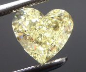 1.12ct Yellow Heart Shape Diamond R8988