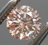 0.24 Pinkish Brown I2 Round Brilliant Diamond R8882