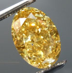SOLD....2.06ct Brownish Yellow SI2 Oval Shape Diamond R8984