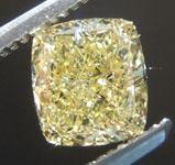 1.19ct Intense Yellow VVS2 Cushion Cut Diamond R8997