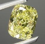 1.00ct Yellow I1 Cushion Cut Diamond R8986