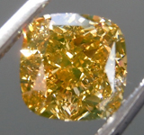 SOLD.....1.13ct Orangy Yellow VVS1 Cushion Cut Diamond R9030