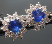 0.51cts Blue Round Brilliant Sapphire Earrings R9005