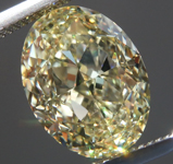 4.02ct Light Yellow VVS1 Oval Shape Diamond R9047
