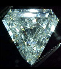 SOLD....GIA 4.62ct H/SI2 Modified Step Cut Shield Diamond R1395
