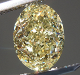 3.06ct Light Yellow SI2 Oval Shape Diamond R9051