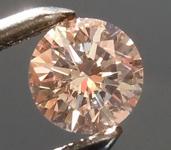 0.26ct Pinkish Brown I1 Round Brilliant Diamond R8884