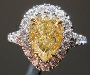 2.07ct Y-Z VVS1 Pear Shape Diamond Ring R9082