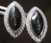 3.04cts Black Marquise Diamond Earrings R8934