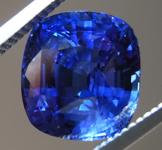 4.02ct Blue Cushion Cut Sapphire R9112