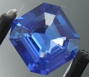 2.14ct Blue Asscher Cut Sapphire R9127