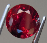 1.42ct Vivid Red Round Burma Ruby R9126