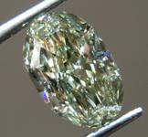 1.24ct Greenish Yellow VS2 Oval Shape Diamond R9135
