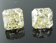 SOLD....3.09ctw Y-Z VS Radiant Cut Diamond Earrings R9147