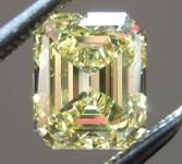 0.90ct Intense Yellow VS2 Emerald Cut Diamond R9161